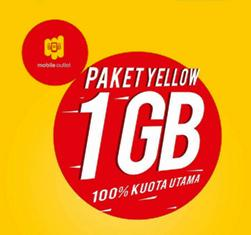 Paket Internet Indosat Data Yellow - 1Gb + Unli (Apps/Youtube), 7Hr