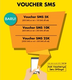 Paket SMS Telp Paket SMS & Telp Indosat - 1250 Sms Sesma,250 All OP 30 hari