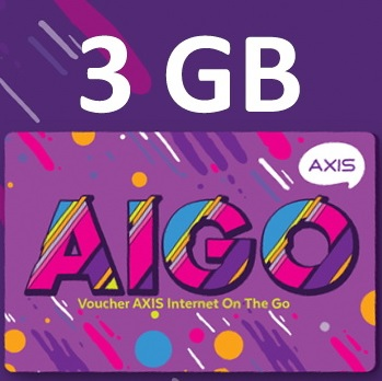 Paket Internet Voucher Axis Data - Voucher 3GB All 24 JAM 30hr
