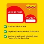 Paket Internet Voucher Indosat Data - Voucher 1GB all + 4.5GB apps 30hr