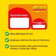 Paket Internet Voucher Indosat Data - Voucher 10GB + 25GB apps30hr